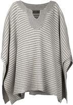 The Elder Statesman cashmere striped poncho