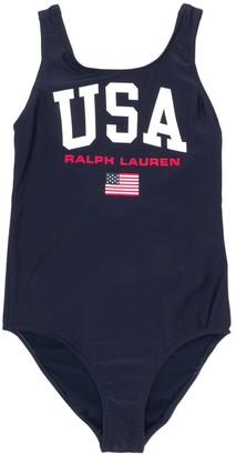 Ralph Lauren Kids Logo Print Swimsuit
