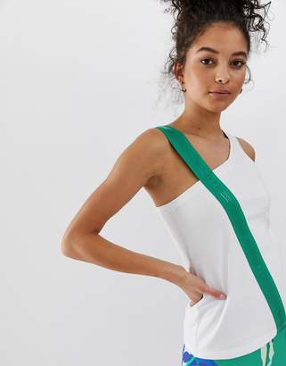 Asos 4505 4505 vest with elastic strap detail-White