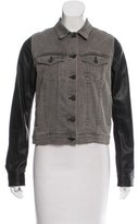 Rag & Bone Leather Accented Jean Jacket