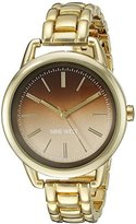 Nine West Women's NW/1810BNGB Brown Ombre Dial Gold-Tone Bracelet Watch