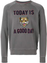 Sun 68 tiger printed sweatshirt