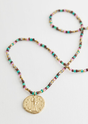 And other stories Coin Pendant Beaded Necklace