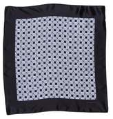 Ermenegildo Zegna Geometric Silk Pocket Square