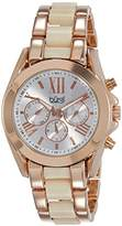 Burgi Women's Swiss Quartz Watch with White Dial Analogue Display and Rose Gold Alloy Bracelet BUR094RG