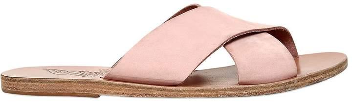 Ancient Greek Sandals 10mm Thais Nubuck Slide Sandals