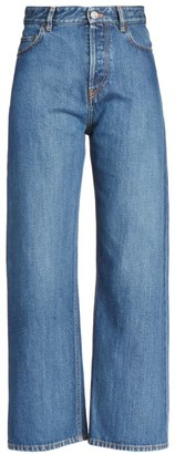 Balenciaga High-Rise Ankle-Cut Jeans