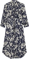 Joie Emmalynn Floral-print Satin Midi Dress