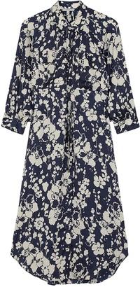 Joie Emmalynn Floral-print Satin Midi Dress
