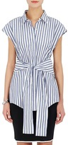 Alexander Wang Women's Striped Cotton Self-Tie Sleeveless Shirt