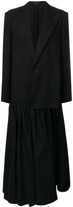 Yohji Yamamoto asymmetric blazer coat