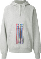 Golden Goose Deluxe Brand fringed embroidered slogan hoodie