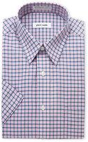 Pierre Cardin Pink & Blue Plaid Short Sleeve Dress Shirt