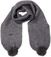 Karl Lagerfeld Tricot Blend Wool Scarf W/ Lurex