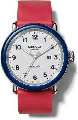 Shinola Detrola The Ace Silicone Strap Watch, 43mm