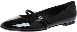 Louis Vuitton Black Patent Leather Mary Jane Ballet Flats Size 39.5