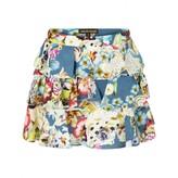 Roberto Cavalli Roberto CavalliGirls Blue Floral Print Ruffle Skirt
