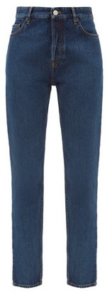 Balenciaga High-rise Straight-leg Jeans - Indigo