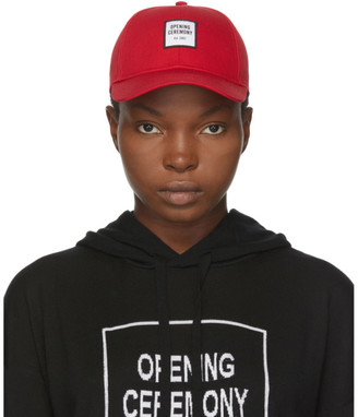 Opening Ceremony Red Embroidered Small Logo Cap