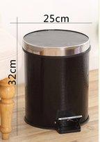 JXQBH European creaive pedal-powered household rash wih cover/ living room/kichen garbage can/bin/ bahroom bins have cover