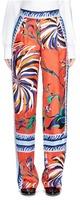 Emilio Pucci Cactus flower print silk pyjama pants