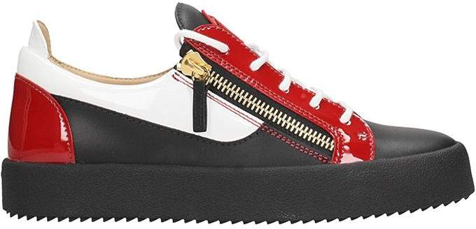 Giuseppe Zanotti Frankie Black-red Leather Sneakers