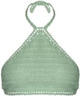 She Made Me Malikah halterneck crochet bikini top