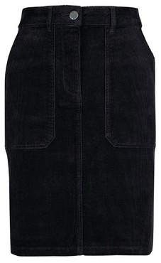 Dorothy Perkins Womens **Tall Black Cord Mini Skirt, Black
