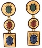 Oscar de la Renta Scarab Clip-On Earrings