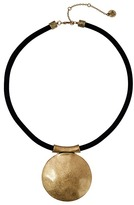 The Sak Large Disc Pendant Necklace 16""