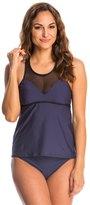Nautica Swimwear Net Effect Tankini Top 8144756
