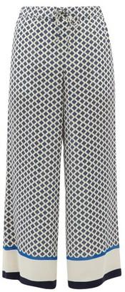 Max Mara Egeo Trousers - Womens - Blue White