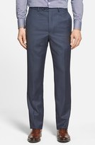 Santorelli Men's Flat Front Wool Trousers