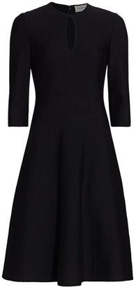 St. John Ottoman Milano-Knit Wool Dress