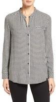 Nordstrom Women's Check Band Collar Shirt