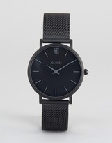 Cluse Minuit Mesh Full Black Watch
