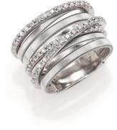 Marco Bicego Goa Diamond & 18K White Gold Seven-Strand Ring