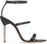 Sophia Webster Rosalind Crystal-embellished Satin Sandals - Black