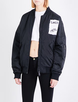Boy London Tape-print shell bomber jacket
