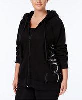 Calvin Klein Plus Size Metallic Logo Hoodie