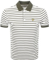 Lyle & Scott Breton Stripe Polo T Shirt Green