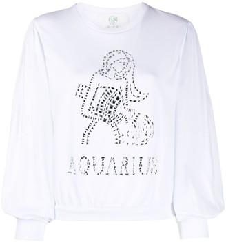 Alberta Ferretti Aquarius crystal-embellished sweatshirt