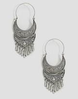 Glamorous Ornate Festival Hoop Earrings
