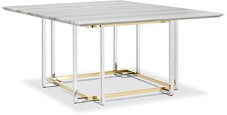 Mercer41 Billings Marble Dining Table Base Color: Mixed Gold and Steel