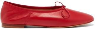 Mansur Gavriel Bow-embellished Leather Ballet Flats - Red