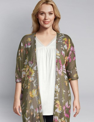 Lane Bryant Floral Duster Overpiece
