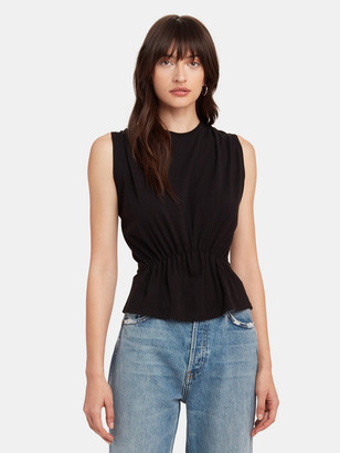 ATM Anthony Thomas Melillo Sleeveless Cotton Tee with Tuck Detail