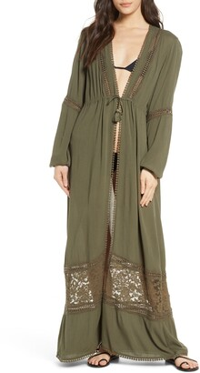 Chelsea28 Long Sleeve Maxi Cover-Up