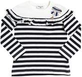 MonnaLisa Striped Cotton Jersey T-Shirt