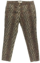 MICHAEL Michael Kors Womens Snake Print Skinny Fit Casual Pants